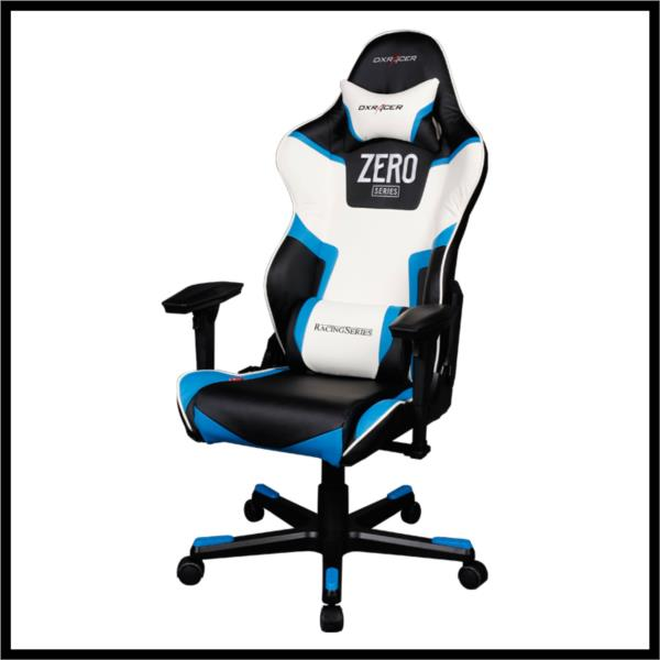 Silla gaming dxracer oh rf118 nbw racing blanca negra for Sillas para gamers