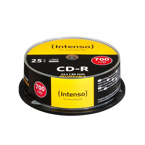 Intenso CD-R 700MB/80min tubo 25 unidades