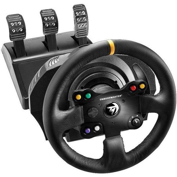 THRUSTMASTER VOLANTE + PEDALES TX RACING WHEEL LEATHER EDITION PARA XBOX ONE/ PC (4460133)