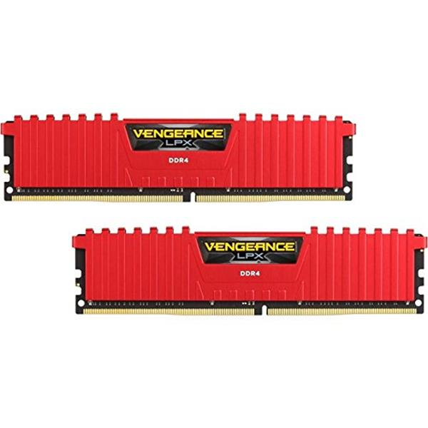 MEMORIA CORSAIR DIMM DDR4 16GB (KIT 2X8GB) 3000MHZ CL15 VENGEANZE LPX RED