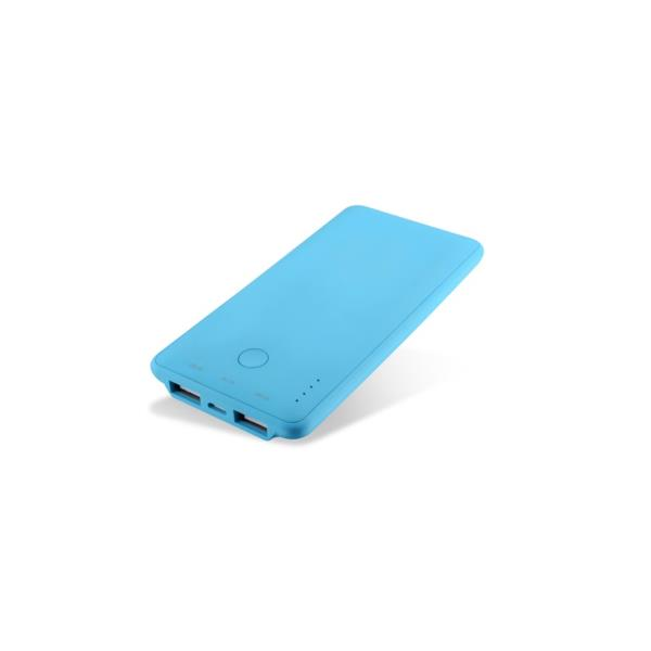 POWERBANK COOLBOX 6000MAH AZUL TACTO RUBBER