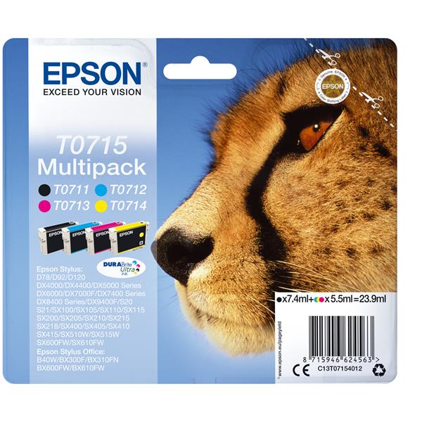 CARTUCHO EPSON MULTIPACK 4 COLORES T0715