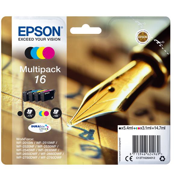CARTUCHO EPSON MULTIPACK 16 4 COLORES T1626