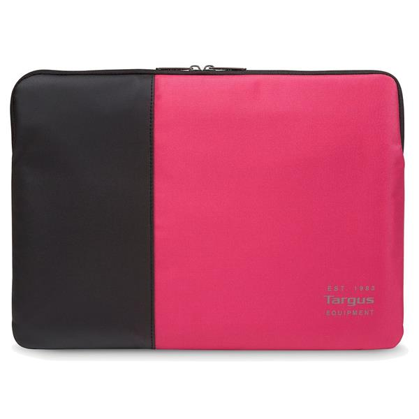 PULSE 14IN LAPTOP SLEEVE BLACK AND PI NK