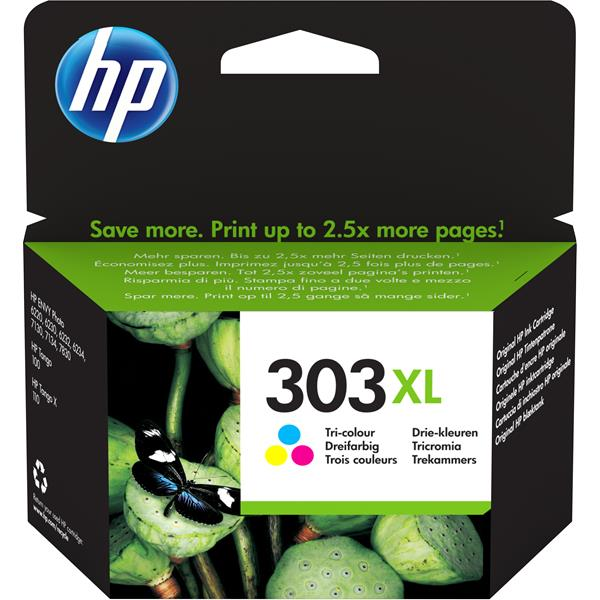 TINTA HP T6N03AE 303XL COLOR