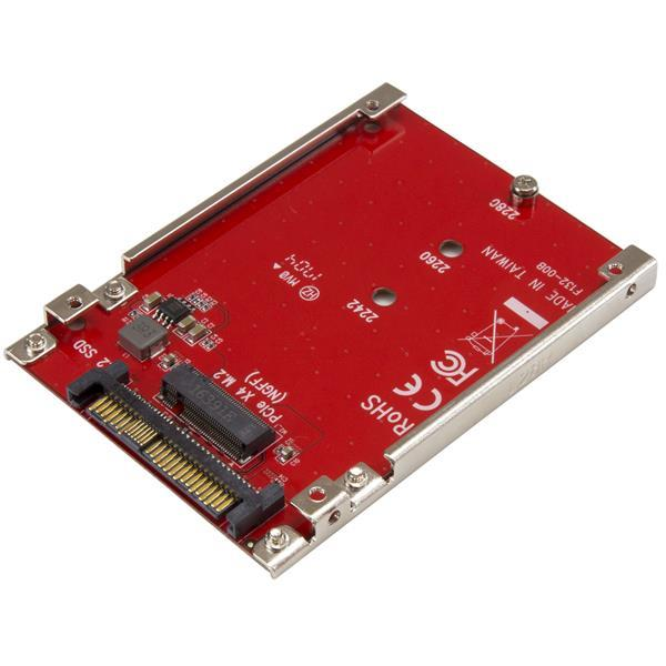 M.2 TO U.2 (SFF-8639) ADAPTER FOR M.2 PCIE NVME SSDS IN