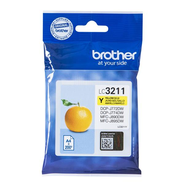 CARTUCHO BROTHER LC3211Y AMARILLO