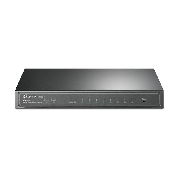 Switch TP-LINK T1500G-8T, 8xGB, VLAN - Negro