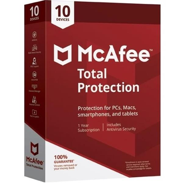 McAfee Total Protection 2018 MD 10 dispositivos
