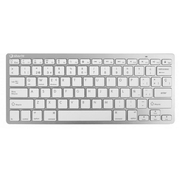 KEYBOARD WIRELESS SILVER HT COLORS EDITION WHITE IN