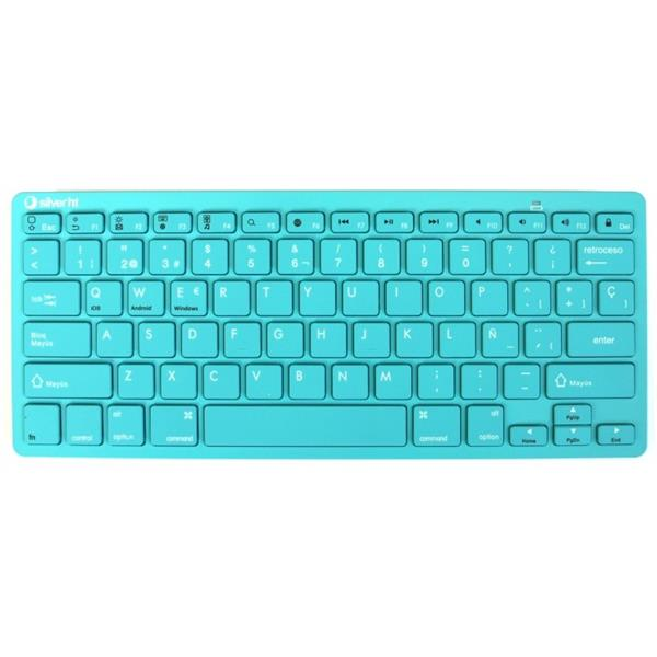 KEYBOARD WIRELESS SILVER HT COLORS EDITION TURQUESE IN