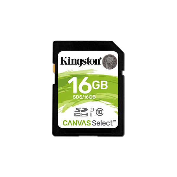 16GB SDHC CANVAS SELECT 80R CL10 UHS -I