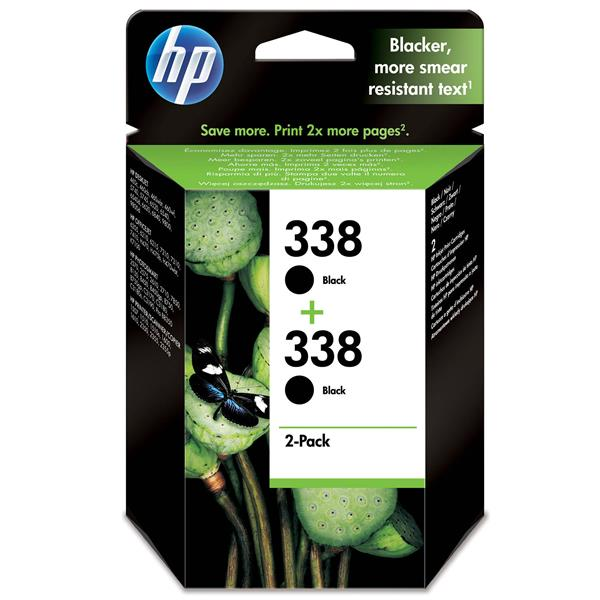 CARTUCHO HP 338 COLOR NEGRO 2-PACK