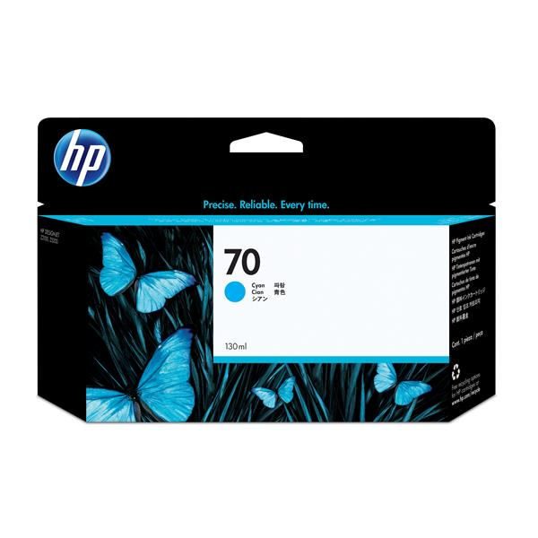 HP No 70 Ink Cart/130 ml Cyan with Viver