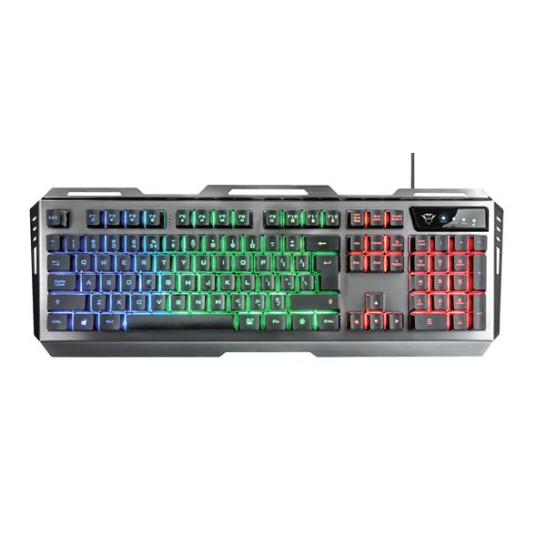 TECLADO + RATON GAMING TRUST GXT 845 TURAL GAMING COMBO ILUM. LED  22460
