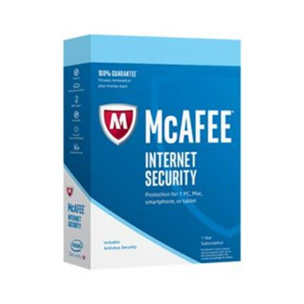 McAfee Internet Security 2018 MD 1 dispositivo MIS00SNR1RAA