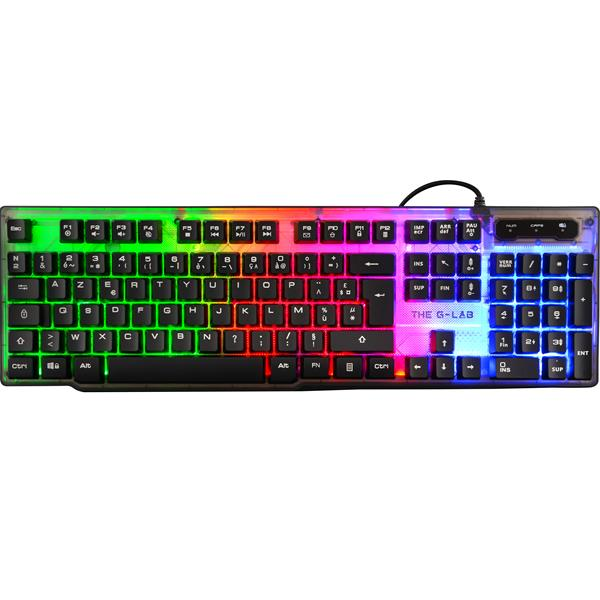 TECLADO THE G-LAB KEYZ NEON