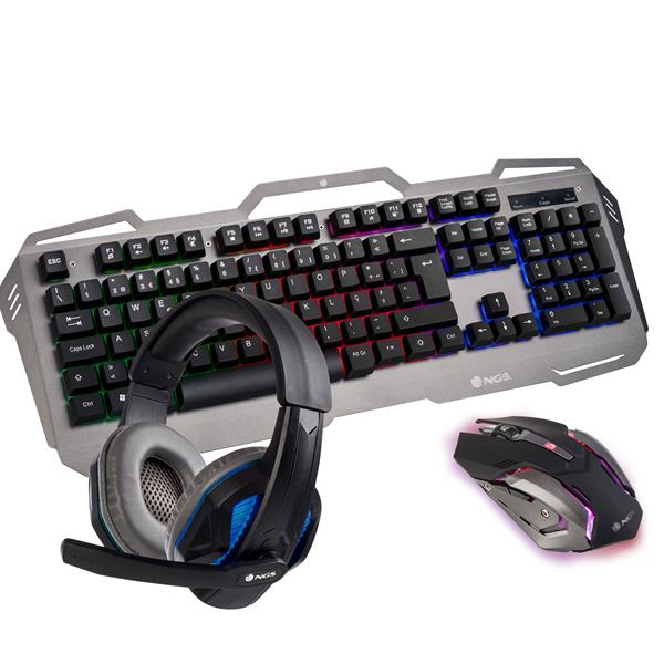 COMBO TECLADO/RATON/AURICULARES NGS GBX-1500 GAMING USB