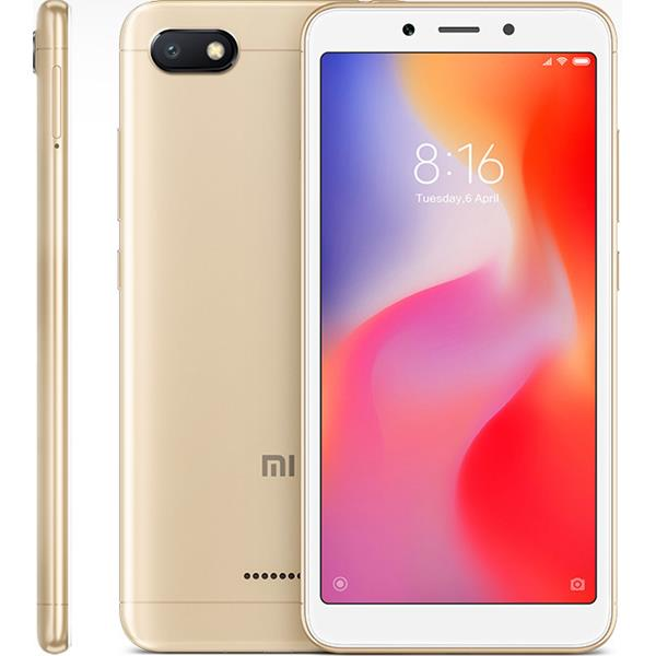 "XIAOMI REDMI 6A 5,45"" HD / 4G / QUAD CORE 2.0GHZ / 2GB RAM / 16GB / MIUI 9.5 / COLOR DORADO"
