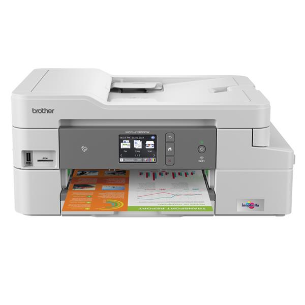 "BROTHER MFCJ-1300DW - Impresora Multifunción, 27ppm, WIFI, LCD 2.67"", FAX, GDI, Blanco"
