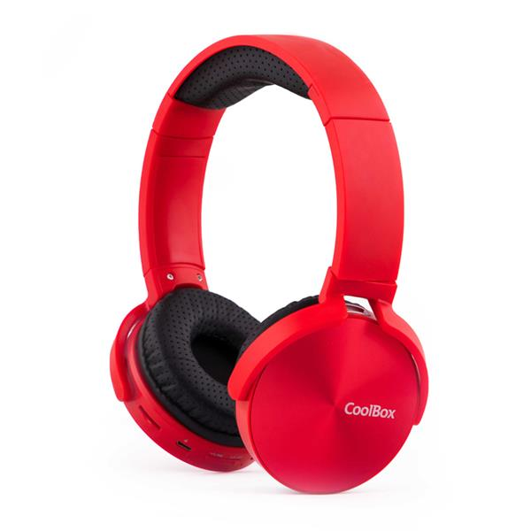 AURICULARES COOLBOX COOLMETAL BLUETOOTH ROJO