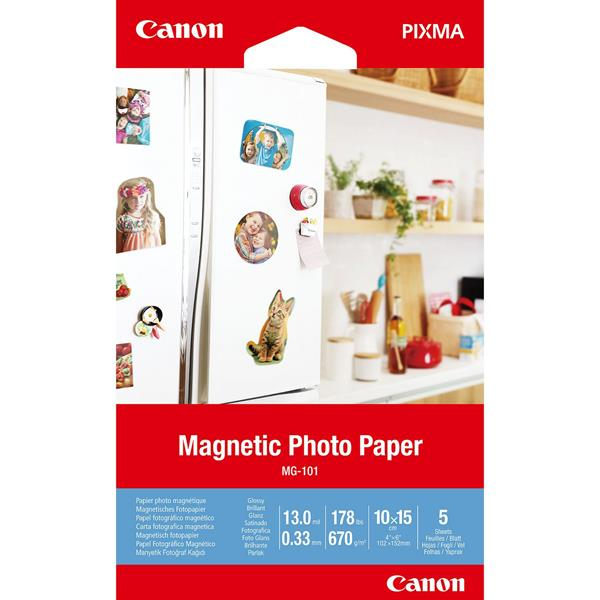 MG-101 4X6 5 SHEETS MAGNETIC PHOTO PAP ER