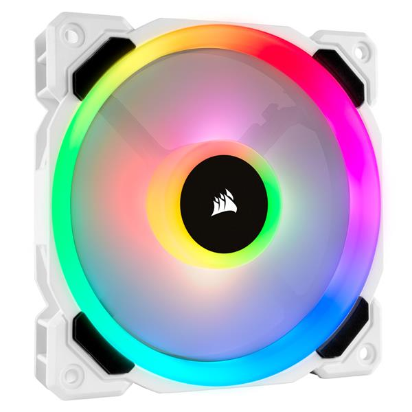 VENTI. CAJA CORSAIR LL120R RGB 120MM DUAL LIGHT LOOP RGB LED SINGLE PACK BLANCO CO-9050091-WW
