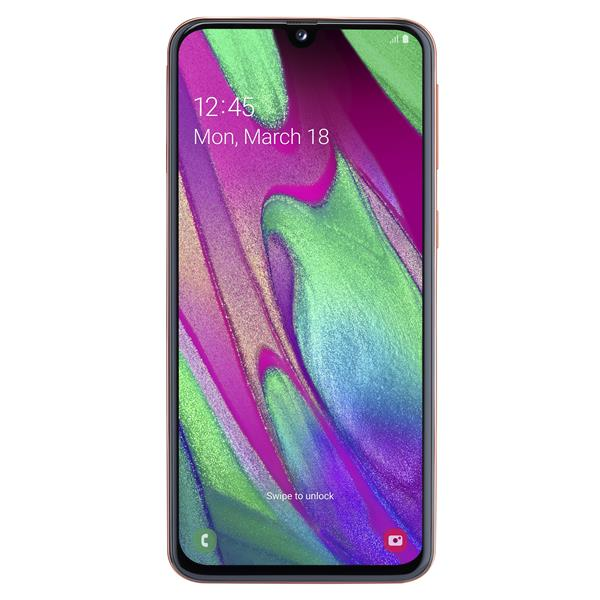 """Samsung Galaxy A40 - Smartphone, 5.9"""", 4G, Octa Core 1.8GHz, 4GB RAM, 64GB, Android 9.0, Coral"""