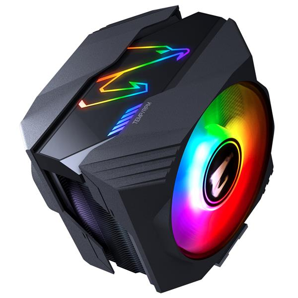 VENTILADOR GIGABYTE CPU AORUS GAMING GP-ATC800,SOCKET INTEL/AMD,DUAL 120MM,500-1700 RPM,2 BALL BEARING RGB FAN