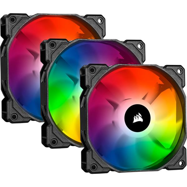 VENTILADOR CAJA CORSAIR ICUE SP120 RGB PRO TRIPLE PACK WITH LIGHTING NODE CORE CO-9050094-WW