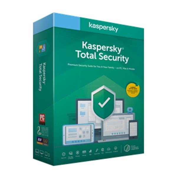 Antivirus Kaspersky Total Security KTS 3 Dispositivos 1 Año - BEEP