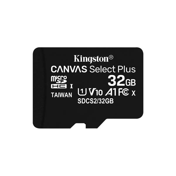 Memoria MicroSD 32GB Kingston Canvas Select Plus Class 10 + Adaptador SD - Beep