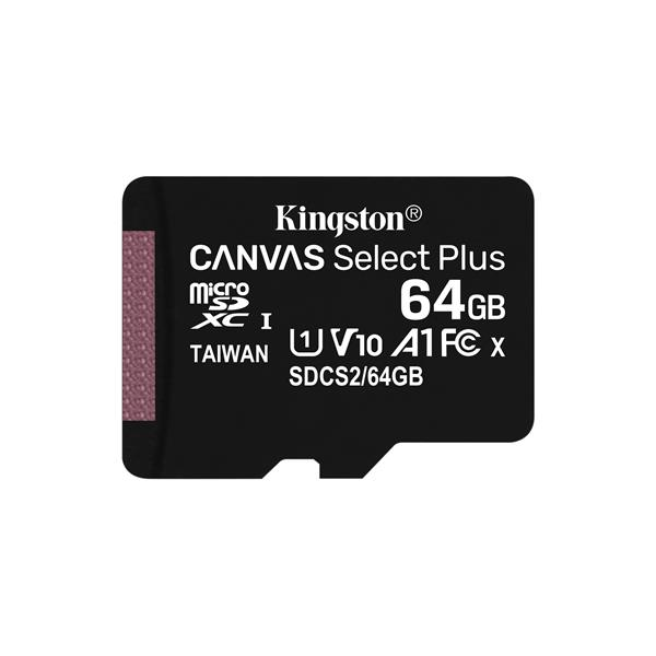 Memoria MicroSD 64GB Kingston Canvas Select Plus Clase 10 + Adaptador SD - Beep