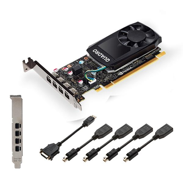 QUADRO P1000 V2 LOWPROFILE DP PCI-3.0 X16 LP4GB GDDR5 128-B IT