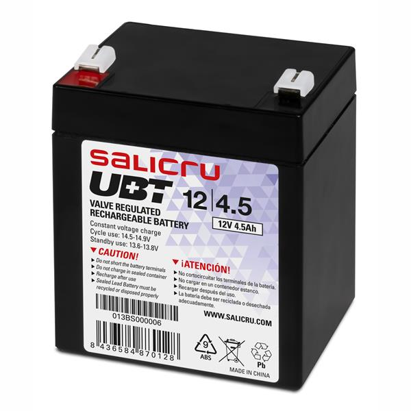 UBT BATTERY 12V/4.5AH WITHOUT MAINTENAN CE