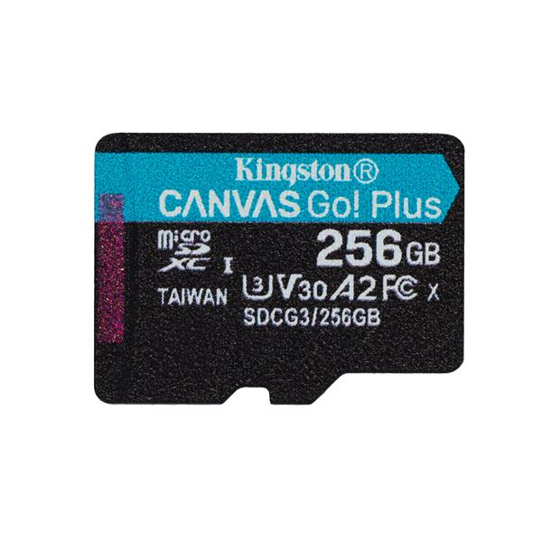 256GB MSDXC CANVAS GO PLUS 170R A2 U3 V30 SINGLE PACK W/O ADP TR