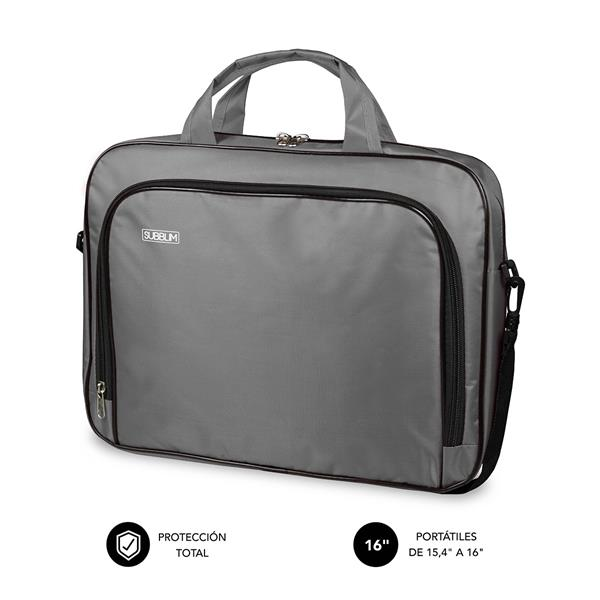 "SUBBLIM OXFORD LAPTOP BAG 15,4-16"" GREY"