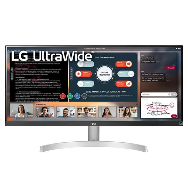 "MONITOR LG 29WN600-W 29"" IPS 2560x1080 5MS HDMI DP MULTIMEDIA NEGRO PLATA"