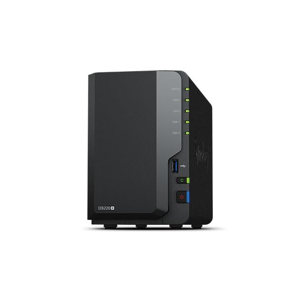 DS220+ 2BAY 2.0 GHZ DC 2GB DDR4 2X GBE 2X USB 3 .0