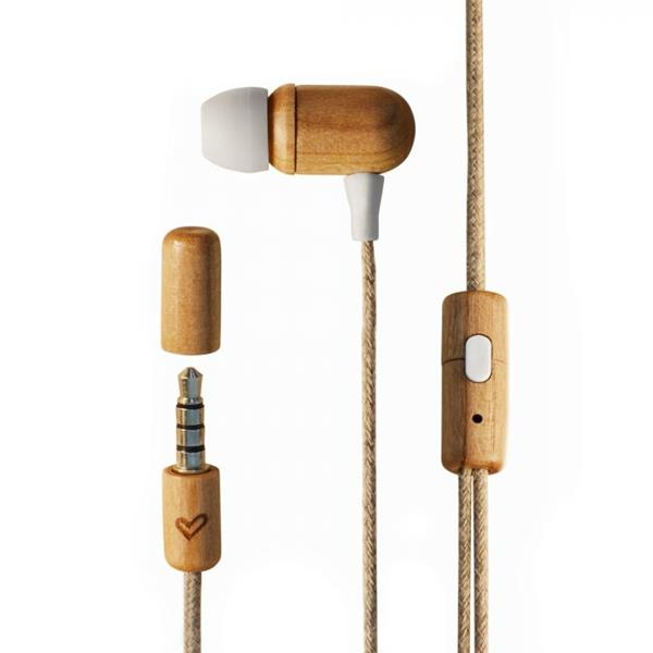 Auriculares Eco Cherry Wood Energy Sistem Sostenibles Madera Cerezo - Beep