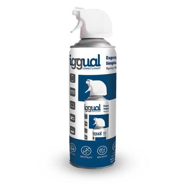 iggual Spray aire comprimido 400 ml SAC400