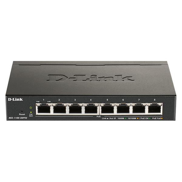 SWITCH EASY SMART WITH 8 PORTS POE GIGAB IT