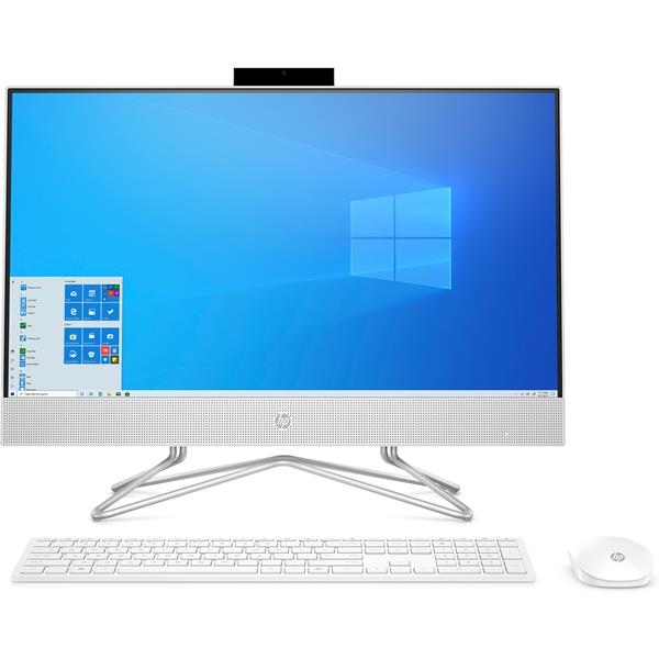 "ORDENADOR ALL IN ONE HP 24-DF0074NS i5-10400T 23.5"" TACTIL 8GB 512SSD  WIFI BLUETOOTH W10 COLOR BLANCO NIEVE TECLADO MOUSE INALAMBRICO"