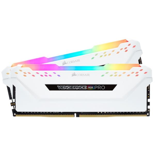 MEMORIA KIT 16 GB (2X8 GB) DDR4 3200 CORSAIR VENGEANCE PRO RGB CL16 BLANCO
