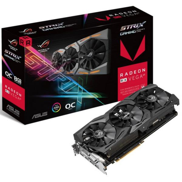 ROG-STRIX-RXVEGA64-O8G-GAMING 8GB HBM2 1590MHZ DVI HDMIX2 DPX2 IN