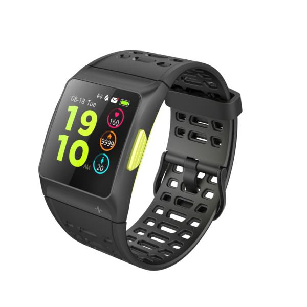 LEOTEC SMARTWATCH Training GPS Total Heart (GPS Real-Sumergible IP68-IPS 1,3 Color-MultiSport-HRV (fatiga) con chip ECG-Compatible Android e IOS)