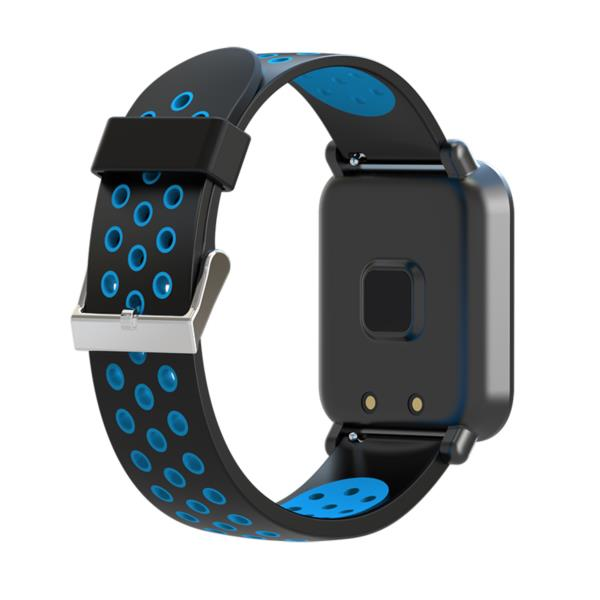 LEOTEC SMARTWATCH MultiSport Helse Color Blue (pantalla color tactil 1,22, pulsometro, tensiometro, oxigeno en sangre, resistente al agua IP68, notifi