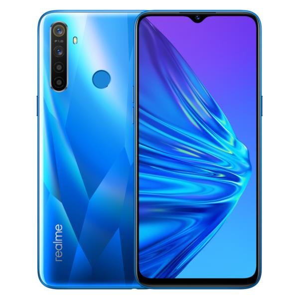"Smartphone Realme 5 - 6.5"", Octa Core, 4GB, 128GB, AND 9, Crystal Blue"