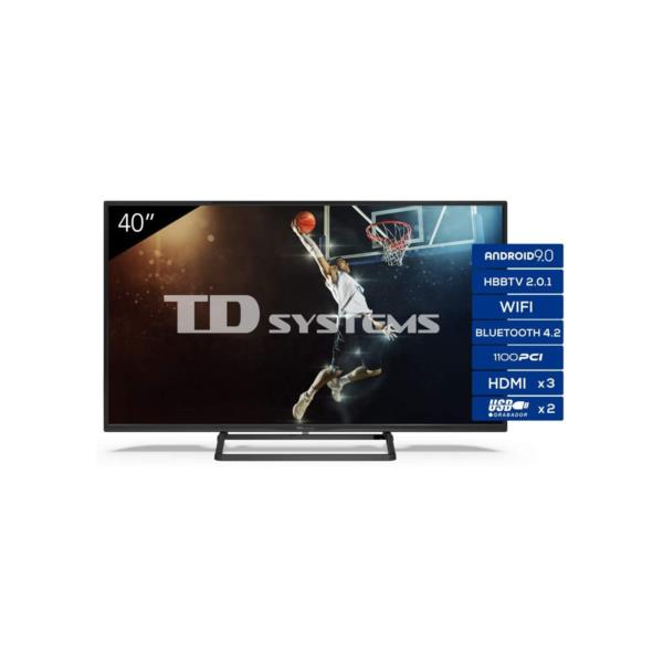 "TV TD SYSTEMS K40DLX11FS 39,5"" FHD SMART ANDROIDTV WIFI USB HDMI NEGRO"