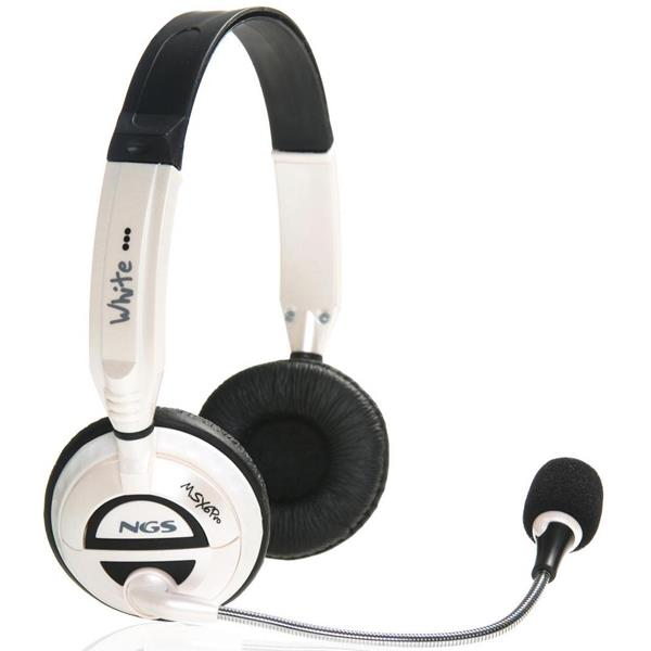 AURICULARES C/MICROFONO NGS MSX6PRO BLANCO